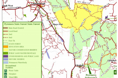 Pyrenees State Forest Map