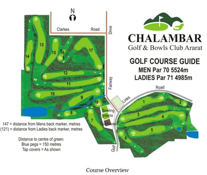 Chalambar Golf Club Map