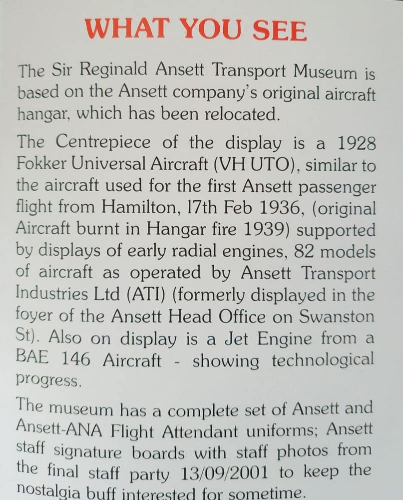 Sir Reginald Ansett Transport Museum 03