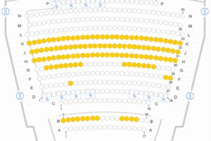 Melbourne International Comedy Festival Seating Plan